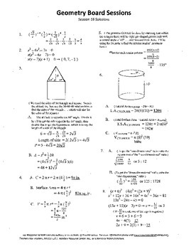 Geometry Board Session 16,SAT,ACT,octagon,30-60-90,cylinde