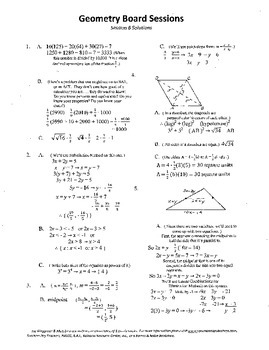 Geometry Board Session 6,SAT,ACT,rhombus,angle work,expone