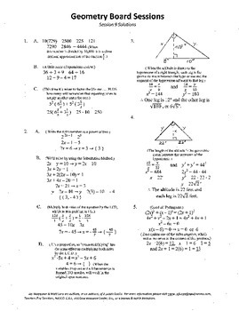 Geometry Board Session 9,SAT,ACT,right triangle,isosceles
