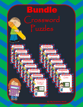 Geometry Bundle: Crossword Puzzles