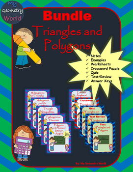 Geometry Bundle: Triangles and Polygons