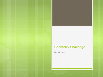Geometry CHALLENGE review game