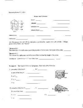 Geometry Chapter 12 Bundle: Areas and Volumes of Solids