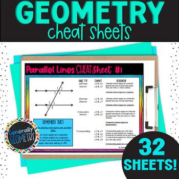 Geometry Cheat Sheets: Logic, Parallel lines, Circles, Qua