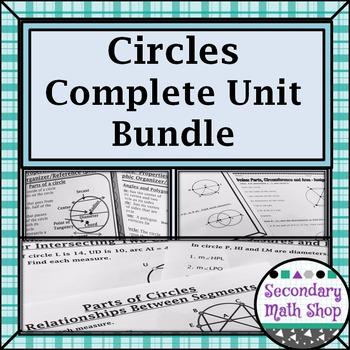 Circles - Geometry Unit 9:  Circles Complete Unit Bundle