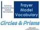 Geometry-Circles & Prisms-Frayer Model Vocabulary (Vocab t