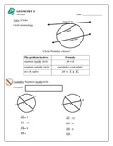Geometry Circles, Secant and Tangent Properties, Area of S