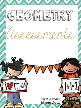 Geometry Common Core Math Assessments First Grade