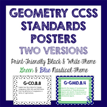 Geometry Common Core Standards Posters