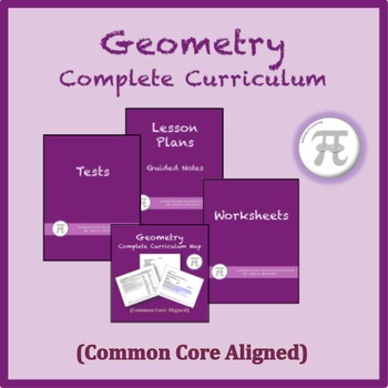 Geometry Complete Curriculum on CD/USB (Common Core Aligned)
