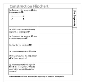 Geometry Construction Flip Chart for Student Notebooks