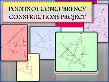 Geometry Constructions Project with Points of Concurrency