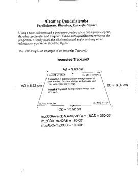 Geometry Creating Quadrilaterals