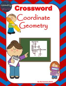 Geometry Crossword Puzzle: Coordinate Geometry