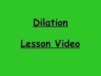 Geometry Dilation Lesson Video