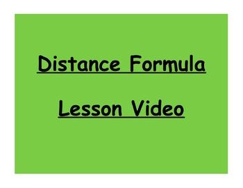 Geometry Distance Formula Lesson Video