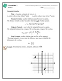 Geometry - Distance, Midpoint, Slope, Transformations, Poi