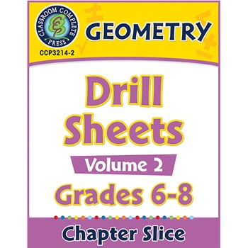 Geometry - Drill Sheets Vol. 2 Gr. 6-8