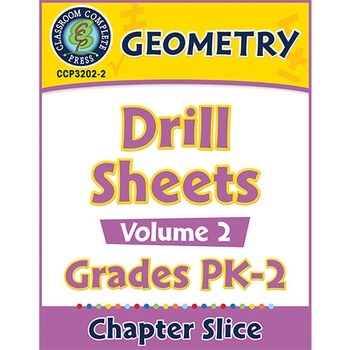 Geometry - Drill Sheets Vol. 2 Gr. PK-2