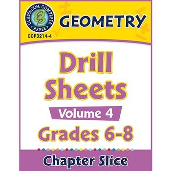 Geometry - Drill Sheets Vol. 4 Gr. 6-8