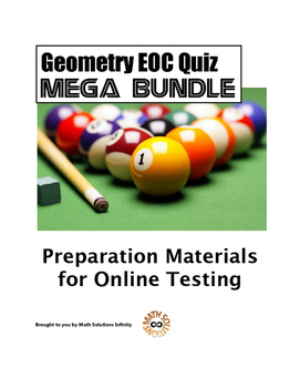 Geometry EOC Quiz MEGA BUNDLE