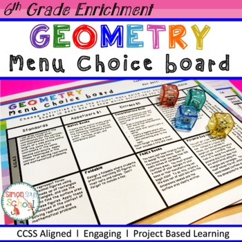 Geometry Enrichment Choice Board – Sixth Grade