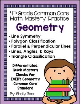 Geometry Fourth Grade Common Core Math Bundle - Spiral Bou
