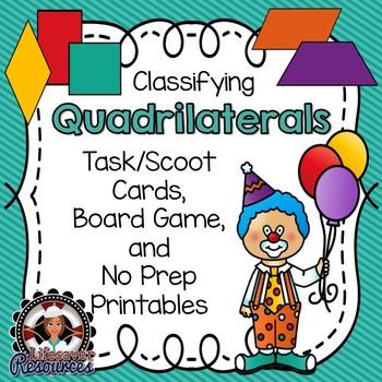 Geometry Game - Printable Worksheets  - Classifying Quadri