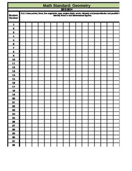 Geometry Gradebook (Common Core)