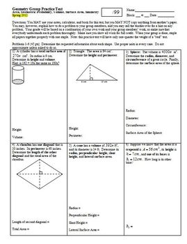Geometry Group/Practice Test Area Geometric Probability Vo