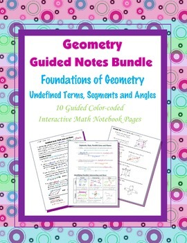 Geometry Guided Interactive Math Notebook Page (Bundle): G