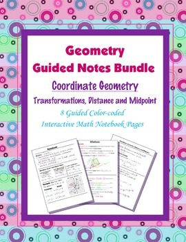 Geometry Guided Interactive Math Notebook Page (Bundle): C