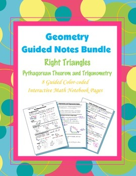 Geometry Guided Interactive Math Notebook Page (Bundle): R