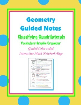 Geometry Guided Interactive Math Notebook Page: Classifyin