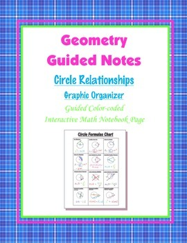 Geometry Guided Interactive Math Notebook Page: Graphic Or