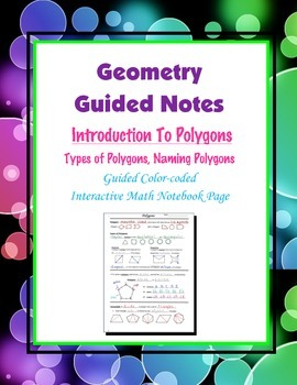 Geometry Guided Interactive Math Notebook Page: Introducti
