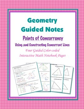 Geometry Guided Interactive Math Notebook Page: Points of