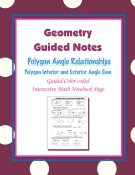 Geometry Guided Interactive Math Notebook Page: Polygon An