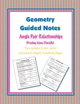 Geometry Guided Interactive Math Notebook Page: Proving Li