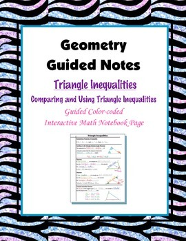 Geometry Guided Interactive Math Notebook Page: Triangle I