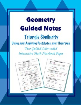 Geometry Guided Interactive Math Notebook Page: Triangle S