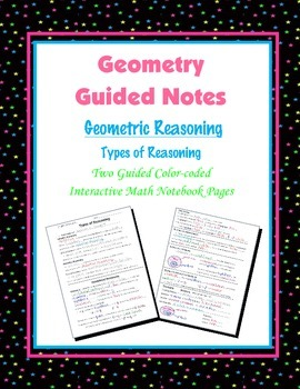 Geometry Guided Interactive Math Notebook Page: Types of R