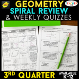 Geometry Homework or Geometry Warm Ups & Bell Ringers 100%