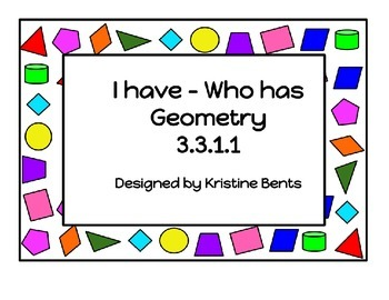Geometry - I have Who Has cards