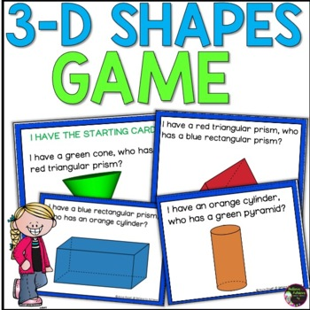 Geometry - I have, Who has?  3D shapes