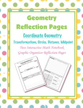 Geometry Interactive Math Notebook {Reflection} {14}: Coor
