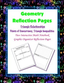Geometry Interactive Math Notebook {Reflection} {7}: Trian