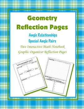 Geometry Interactive Math Notebook {Reflection} {3}: Speci