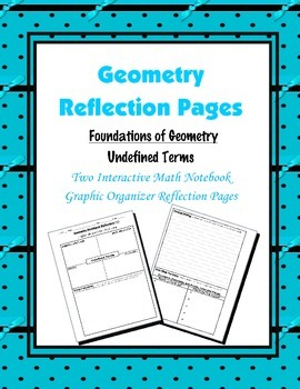 Geometry Interactive Math Notebook {Reflection} {1}: Found