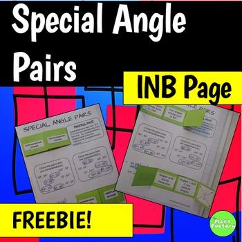 Geometry Interactive Notebook Page FREEBIE